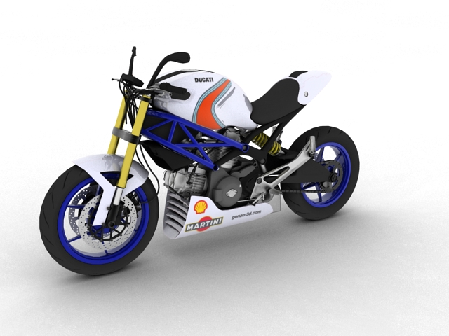 ducati monster 796 racer 2012 3d model 3ds max fbx c4d obj 154749