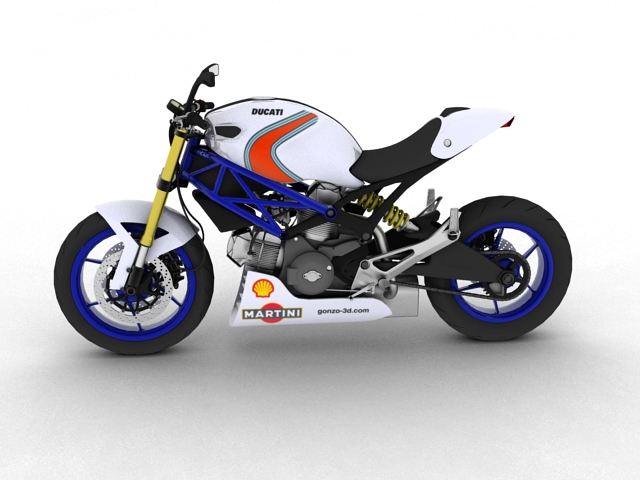 ducati monster 796 racer 2012 3d model 3ds max fbx c4d obj 154750