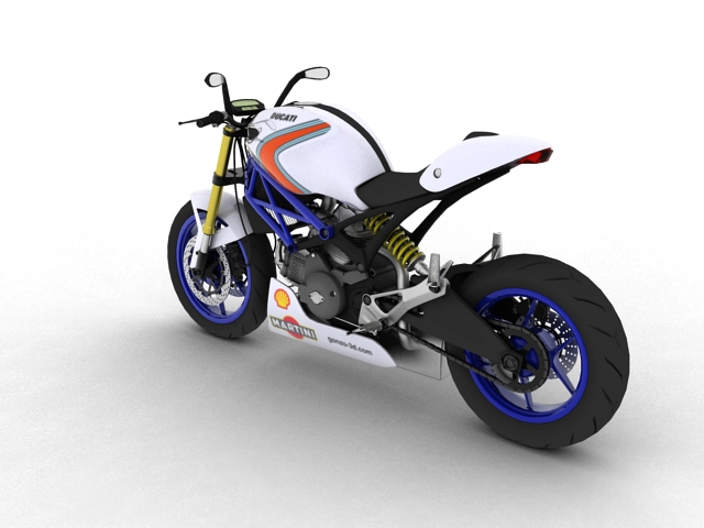 ducati monster 796 racer 2012 3d model 3ds max fbx c4d obj 154751