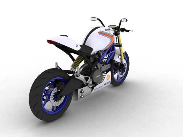 ducati monster 796 racer 2012 3d model 3ds max fbx c4d obj 154753