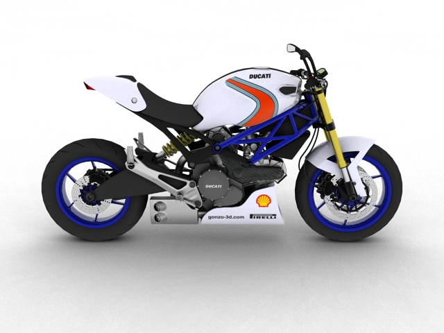 ducati monster 796 racer 2012 3d model 3ds max fbx c4d obj 154754