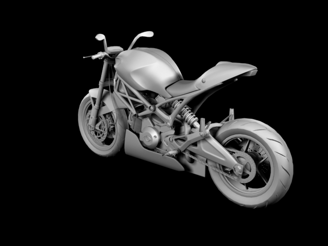 ducati monster 796 racer 2012 3d model 3ds max fbx c4d obj 154755