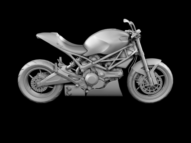 ducati monster 796 racer 2012 3d model 3ds max fbx c4d obj 154758