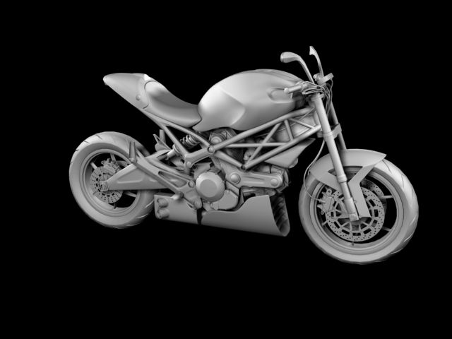 ducati monster 796 racer 2012 3d model 3ds max fbx c4d obj 154759