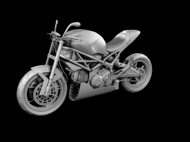 ducati monster 796 racer 2012 3d model 3ds max fbx c4d obj 154760