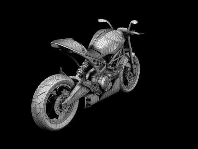 ducati monster 796 racer 2012 3d model 3ds max fbx c4d obj 154763