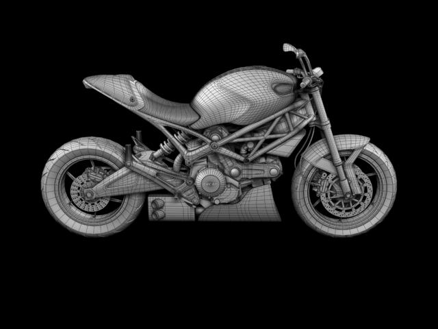 ducati monster 796 racer 2012 3d model 3ds max fbx c4d obj 154764