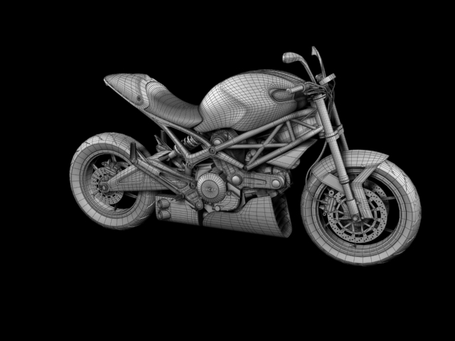 ducati monster 796 racer 2012 3d model 3ds max fbx c4d obj 154765