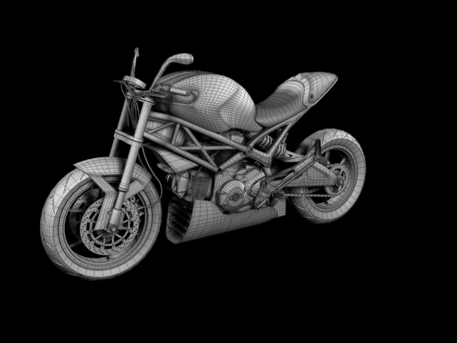 ducati monster 796 racer 2012 3d model 3ds max fbx c4d obj 154766