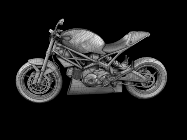 ducati monster 796 racer 2012 3d model 3ds max fbx c4d obj 154767