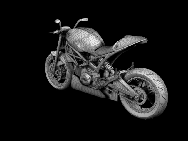 ducati monster 796 racer 2012 3d model 3ds max fbx c4d obj 154768