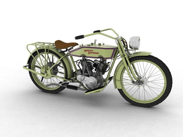 harley-davidson 11j 1915 3d model 3ds max fbx c4d gwrthwyneb 155703