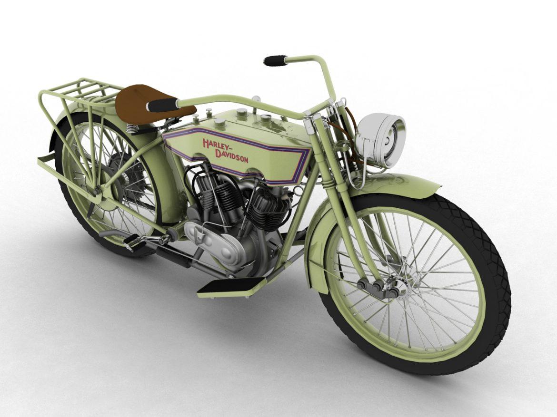 harley-davidson 11j 1915 3d model 3ds max fbx c4d obj 155704