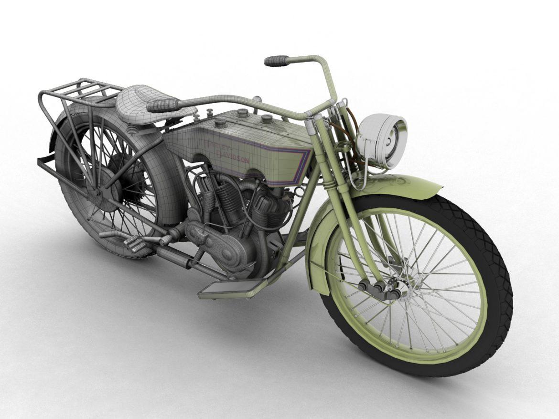 harley-davidson 11j 1915 3d model 3ds max fbx c4d obj 155705