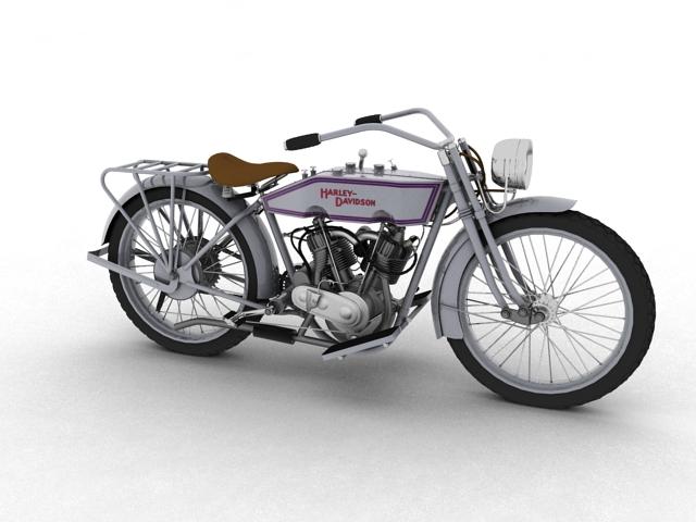 harley-davidson 11j 1915 3d model 3ds max fbx c4d obj 155707