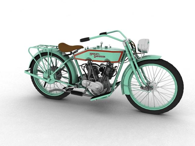 harley-davidson 11j 1915 3d model 3ds max fbx c4d obj 155708