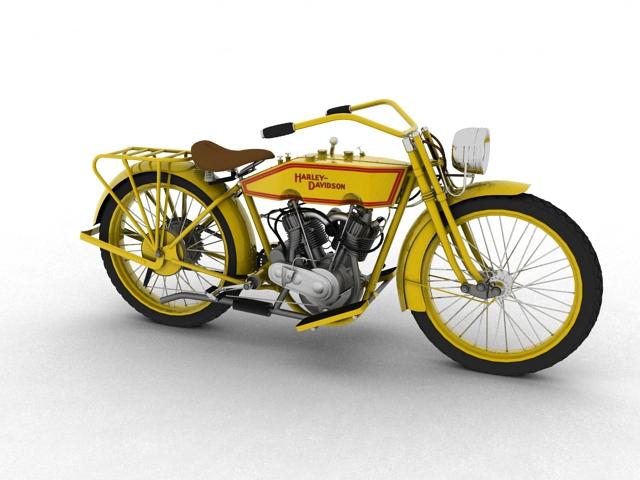 harley-davidson 11j 1915 3d model 3ds max fbx c4d obj 155709