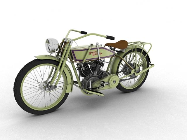 harley-davidson 11j 1915 3d model 3ds max fbx c4d obj 155710