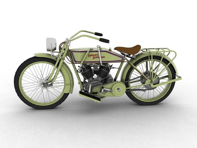 harley-davidson 11j 1915 3d model 3ds max fbx c4d obj 155711