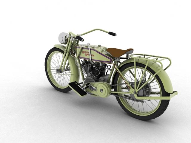 harley-davidson 11j 1915 3d model 3ds max fbx c4d obj 155712