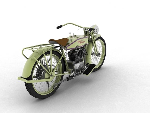 harley-davidson 11j 1915 3d model 3ds max fbx c4d obj 155714