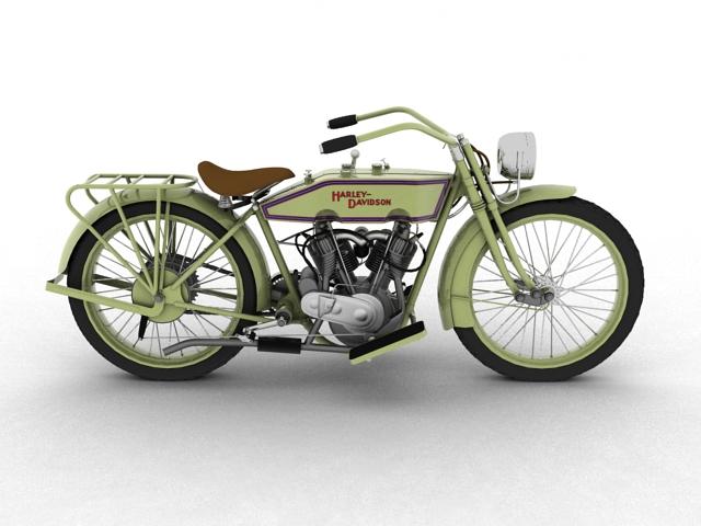 harley-davidson 11j 1915 3d model 3ds max fbx c4d obj 155715