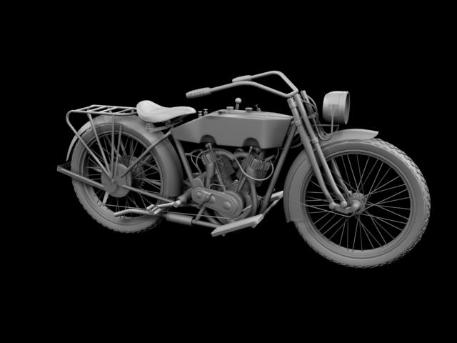 harley-davidson 11j 1915 3d model 3ds max fbx c4d obj 155716