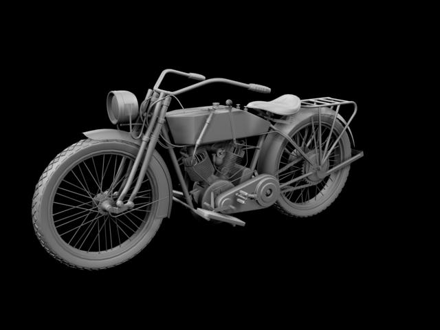 harley-davidson 11j 1915 3d model 3ds max fbx c4d obj 155717