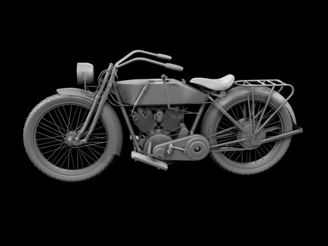 harley-davidson 11j 1915 3d model 3ds max fbx c4d obj 155718