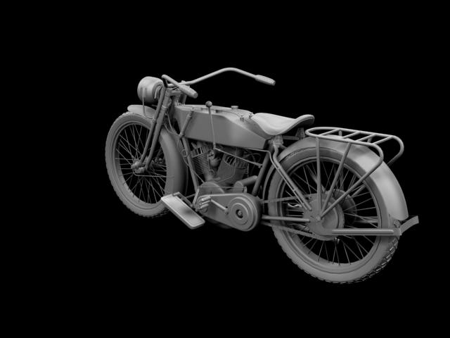 harley-davidson 11j 1915 3d model 3ds max fbx c4d obj 155719