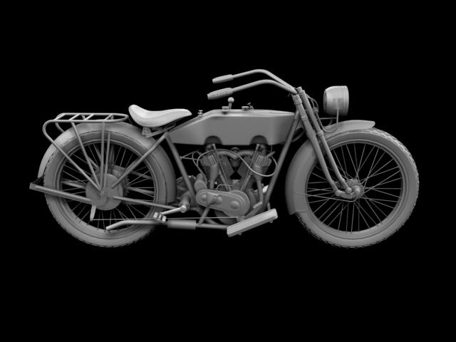 harley-davidson 11j 1915 3d model 3ds max fbx c4d obj 155722