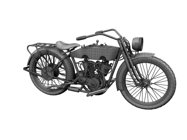 harley-davidson 11j 1915 3d model 3ds max fbx c4d obj 155723