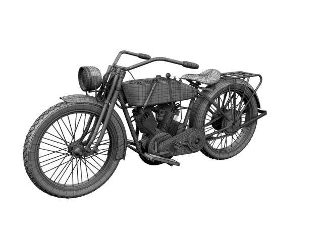 harley-davidson 11j 1915 3d model 3ds max fbx c4d obj 155724