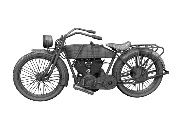 harley-davidson 11j 1915 3d model 3ds max fbx c4d obj 155725