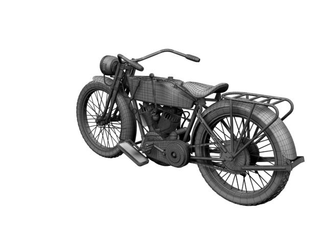 harley-davidson 11j 1915 3d model 3ds max fbx c4d obj 155726