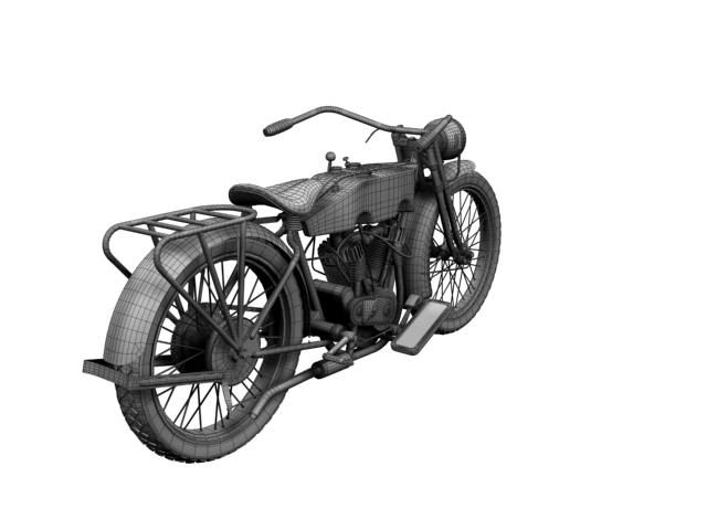 harley-davidson 11j 1915 3d model 3ds max fbx c4d obj 155728
