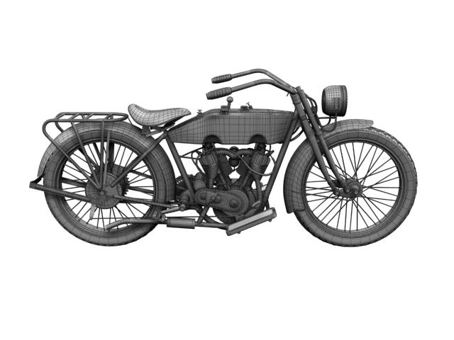harley-davidson 11j 1915 3d model 3ds max fbx c4d obj 155729