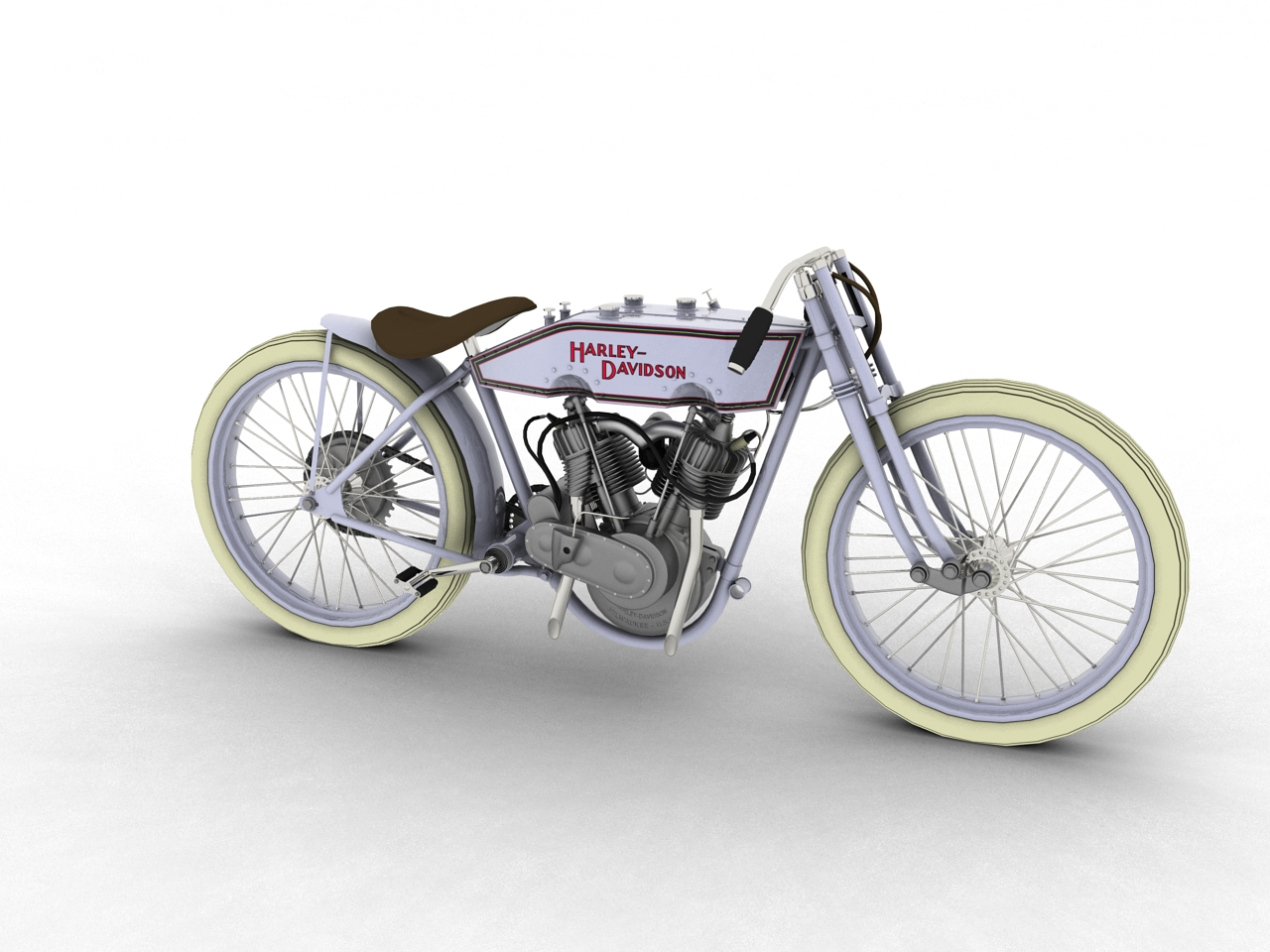 harley-davidson 11k boardtrack 1915 3d model 3ds max fbx c4d obj 155191