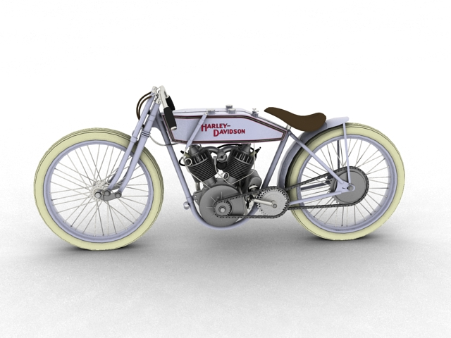 harley-davidson 11k boardtrack 1915 3d model 3ds max fbx c4d obj 155196