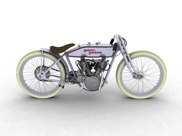 harley-davidson 11k boardtrack 1915 3d model 3ds max fbx c4d obj 155200