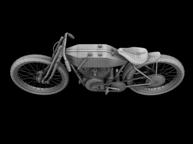 harley-davidson 11k boardtrack 1915 3d model 3ds max fbx c4d obj 155210