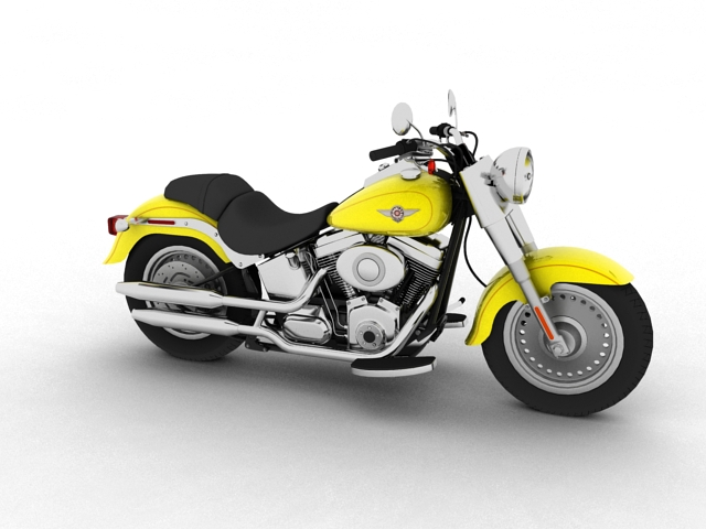 harley-davidson flstf fat boy 2012 3d model 3ds max fbx c4d obj 154830
