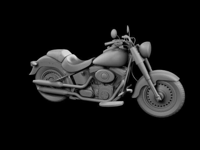 bachgen braster harley-davidson flstf braster model 2012 3d 3ds max fbx c4d obj 154841