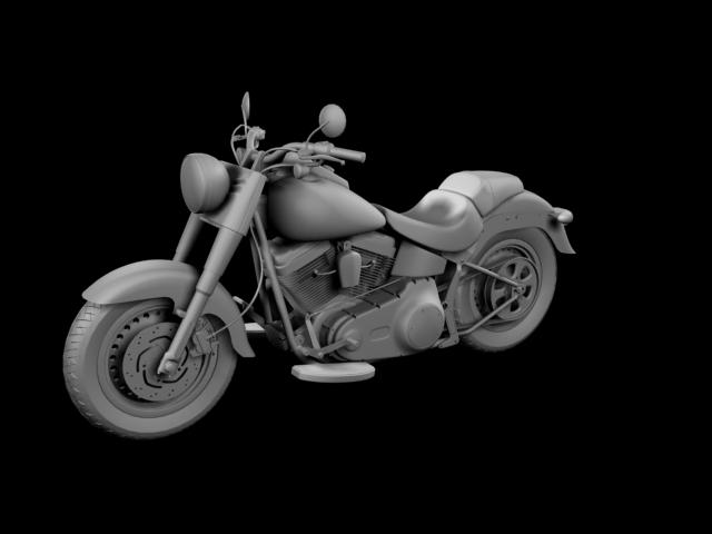 bachgen braster harley-davidson flstf braster model 2012 3d 3ds max fbx c4d obj 154842
