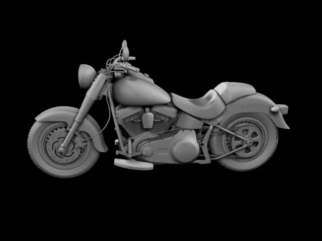 harley-davidson flstf fat boy 2012 3d model 3ds max fbx c4d obj 154843