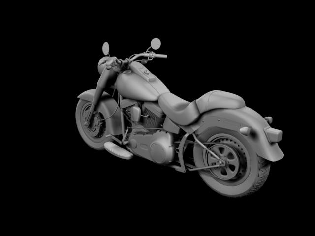 bachgen braster harley-davidson flstf braster model 2012 3d 3ds max fbx c4d obj 154844