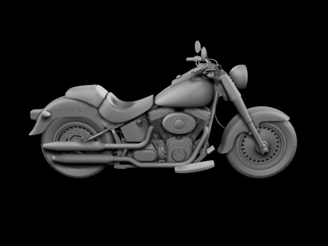 bachgen braster harley-davidson flstf braster model 2012 3d 3ds max fbx c4d obj 154847