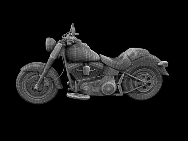 bachgen braster harley-davidson flstf braster model 2012 3d 3ds max fbx c4d obj 154850