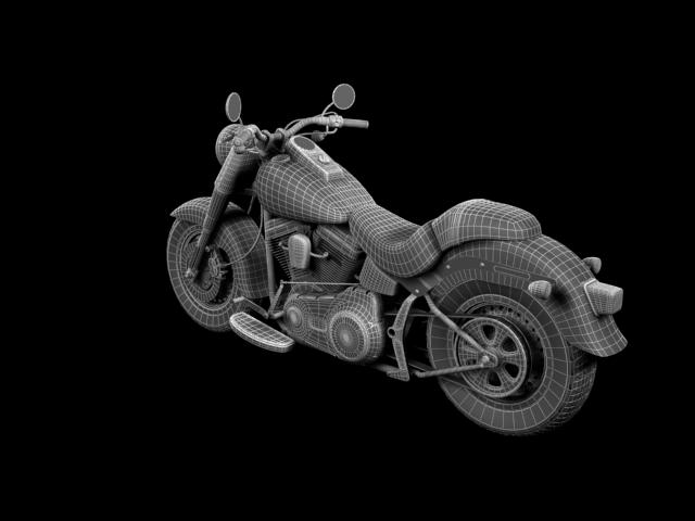 bachgen braster harley-davidson flstf braster model 2012 3d 3ds max fbx c4d obj 154851