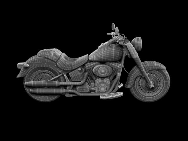 bachgen braster harley-davidson flstf braster model 2012 3d 3ds max fbx c4d obj 154854